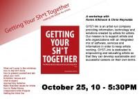 Sat, October 25, 10 – 5PM :: GYST Workshop